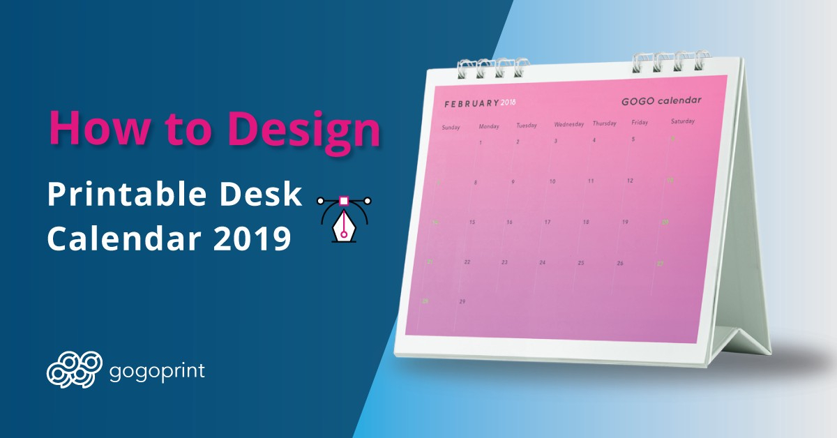 A step-by-step tutorial on how to create a desk calendar for 2019
